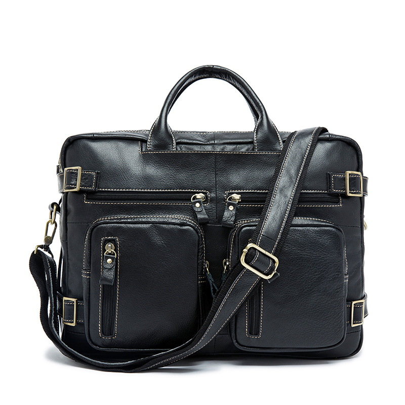 2017 Handbags Men Cow Genuine Leather Bag Business Casual Crossbody Bags Men Travel Bag Tote Briefcases bags Male Multifunction