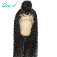 Qearl 360 Lace Frontal Wig 360 All Lace Front Human Hair Wigs Human Remy Curly Hair Free Part Glueless wigs with baby hairs