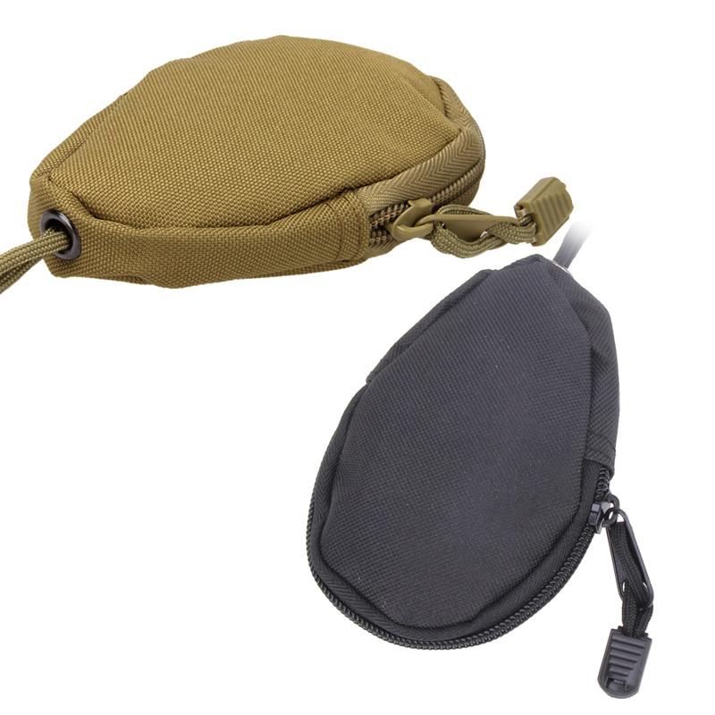 12x7cm EDC Unisex Mini Key Wallet Case Car Keys Holder Purses Pouch Military Bag Camouflage Bag Pocket Keychain Zipper Bag