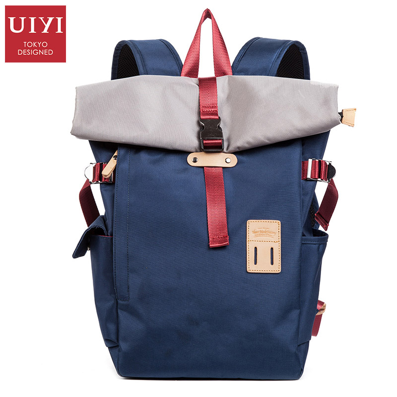 Fashion Men 14 inch Laptop Vintage Canvas Backpack School Bookbag Laptop Satchel Travel Bag Rucksack Male