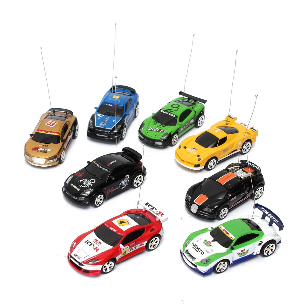 Sport R/C Racer Coke Can Car Mini Radio Remote Control Vehicle RC Micro Racing Toys Small Porket  2 Frequency Gifts for Children radio-controlled car