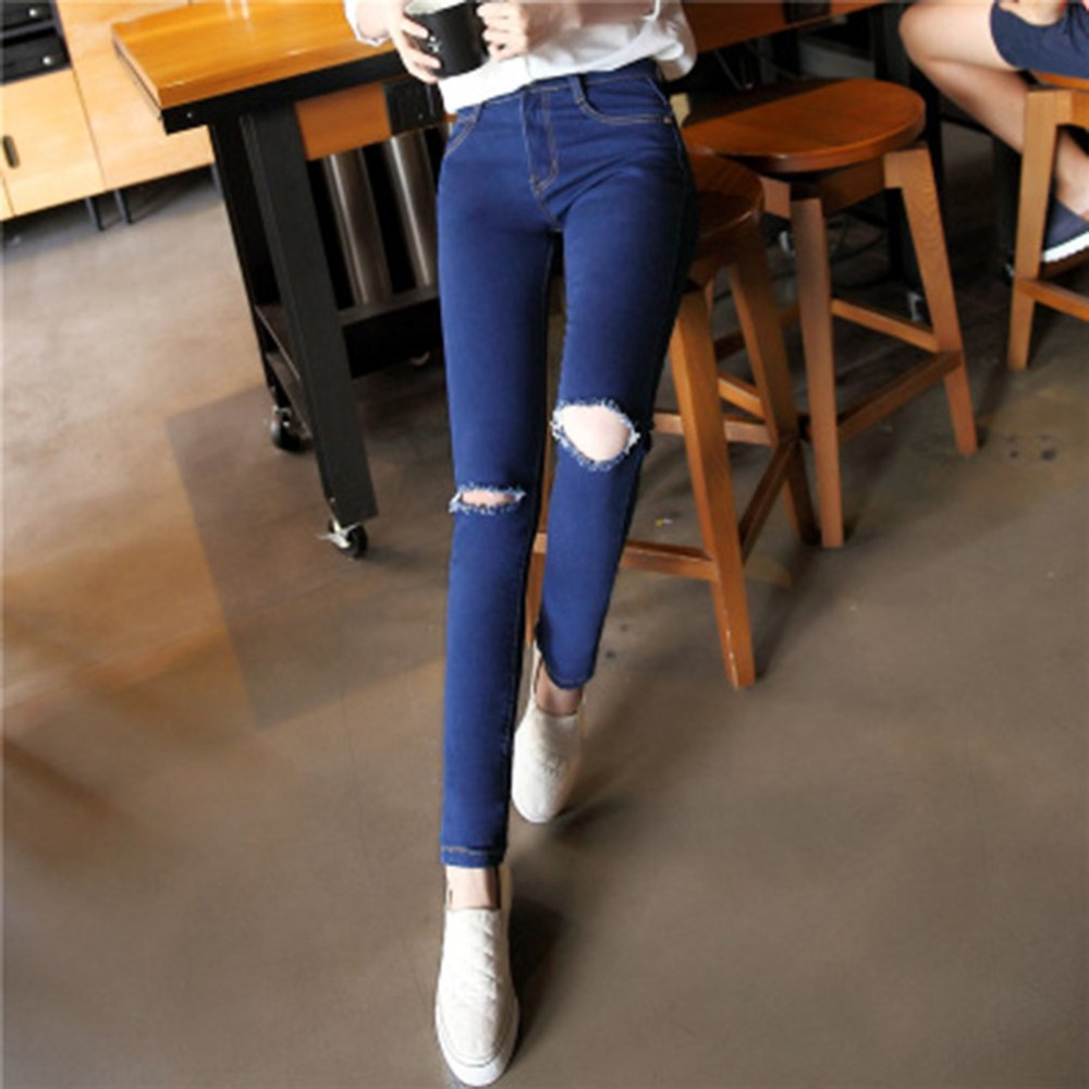 2017 Fashion Jeans Women Denim Pencil Pants High Waist Jeans Sexy Slim Elastic Skinny Stretch Pants Trousers Fit Jeans Plus size fashion jeans femme women pencil pants high waist jeans sexy slim elastic skinny pants trousers fit lady jeans plus size denim