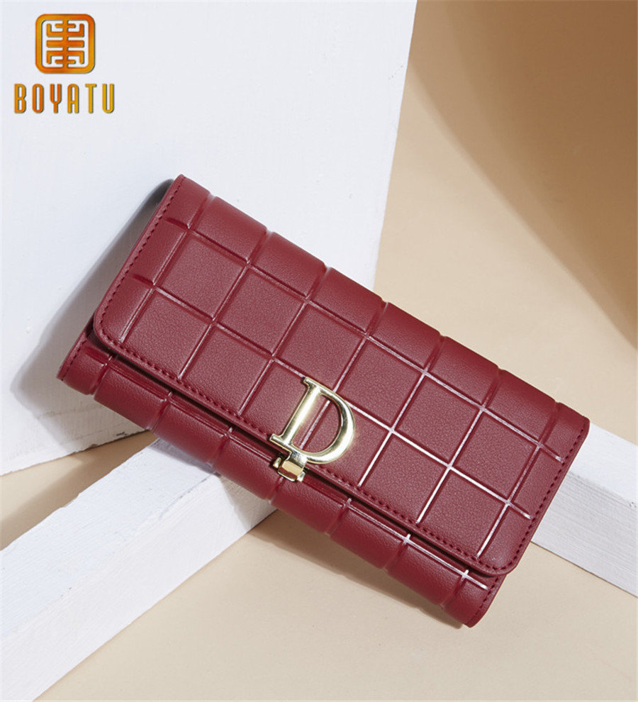 2018 Leather Women Wallets Luxury Famous Brand Wallets for Female Coin Purses Holders Ladies Wallet Long Purses bostanten 2017 genuine leather women wallets luxury famous brand wallets for women coin purses holders ladies wallet long purses