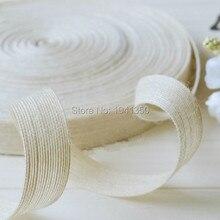 """Cáñamo blanco decoración hechos a mano cuerda de yute twiner párrafo encaje zakka 25 mm ( 0.98 """" ) 10 mtrer / lot"""