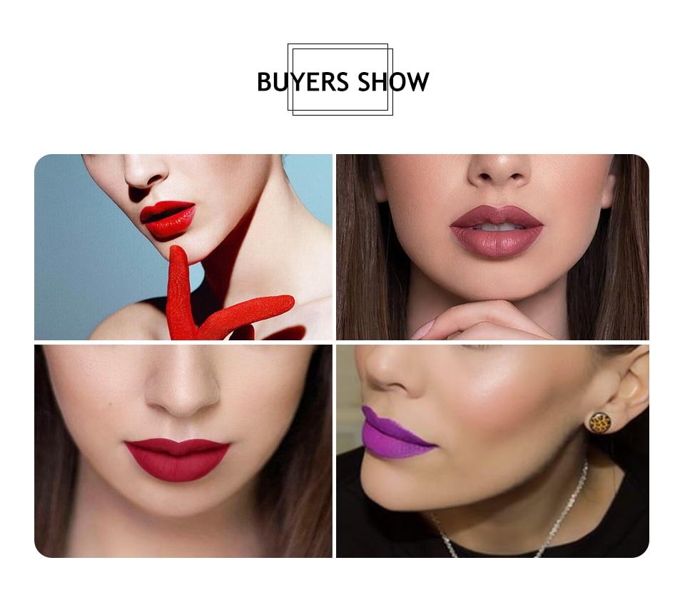 matte red lips makeup (7)
