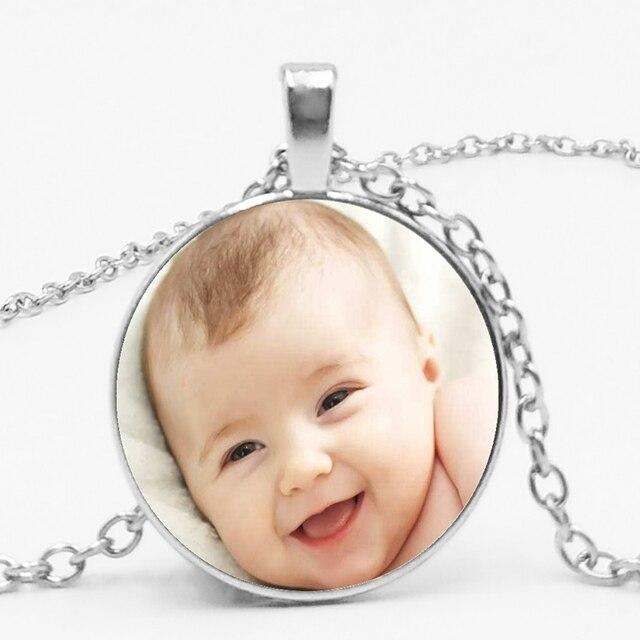 Artesanal Personalidade Foto Foto de Família Mãe Pai Do Bebê da Criança Avós Irmãos Irmãs Colar Artesanal Personalizado Privado