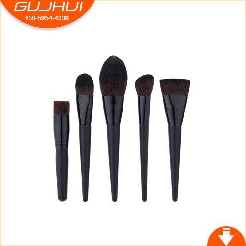 5 Makeup Brush Set, Combination Beauty Tools, Foundation Brush, Flame Brush, Flat Brush, GUJHUI