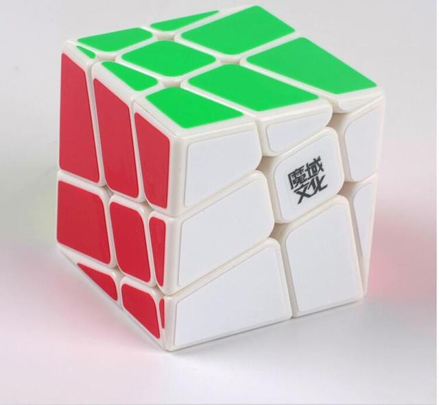 MoYu Plástico Blanco Windwill Loco Cubo Mágico Rompecabezas Rompecabezas Rompecabezas de Inteligencia Juguete Childern o Speedcubers Colección