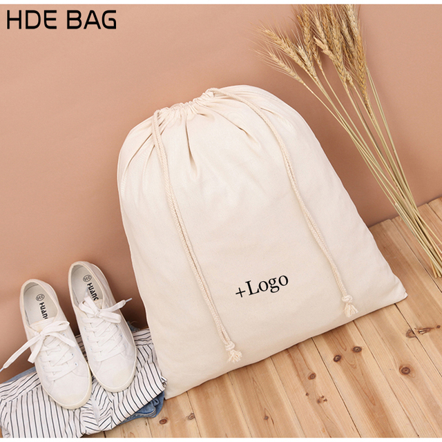cotton bag for packaging jewelry makeup gift wedding party storage
