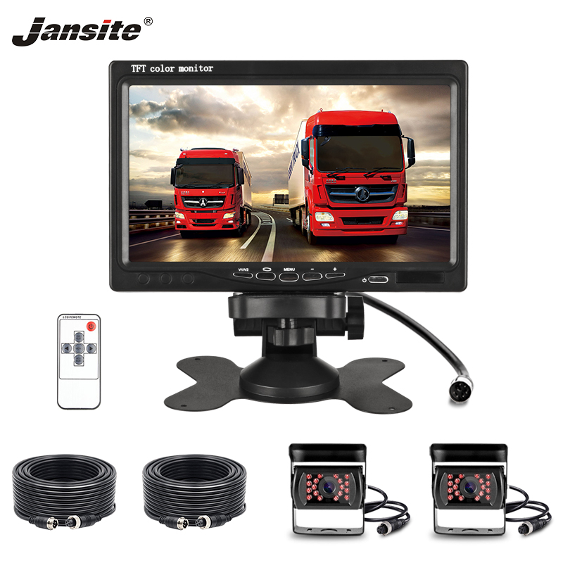 Jansite 7 TFT LCD Wired Car Monitor Display Cameras with Aviation head Camera Parking System for Rear view Monitor more clearJansite 7 TFT LCD Wired Car Monitor Display Cameras with Aviation head Camera Parking System for Rear view Monitor more clear
