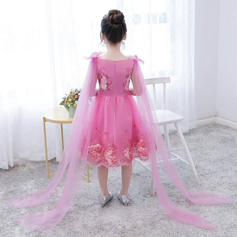 Knee Length Flower Girl Dresses Appliques Kids Pageant Dress For Wedding  Birthday Party Girl Ball Gown. sku  32907153447 2594b406281b