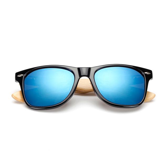 UNISEX 17 modelos de gafas de sol acabado madera cuadrada de bambú hechas a mano