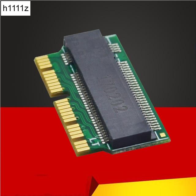 Adaptador m.2 para macbook air ssd, adaptador mac ssd m key m.2 pci e x4 ngff ahci ssd 12 + 16pin para macbook air 2013 2014 2015