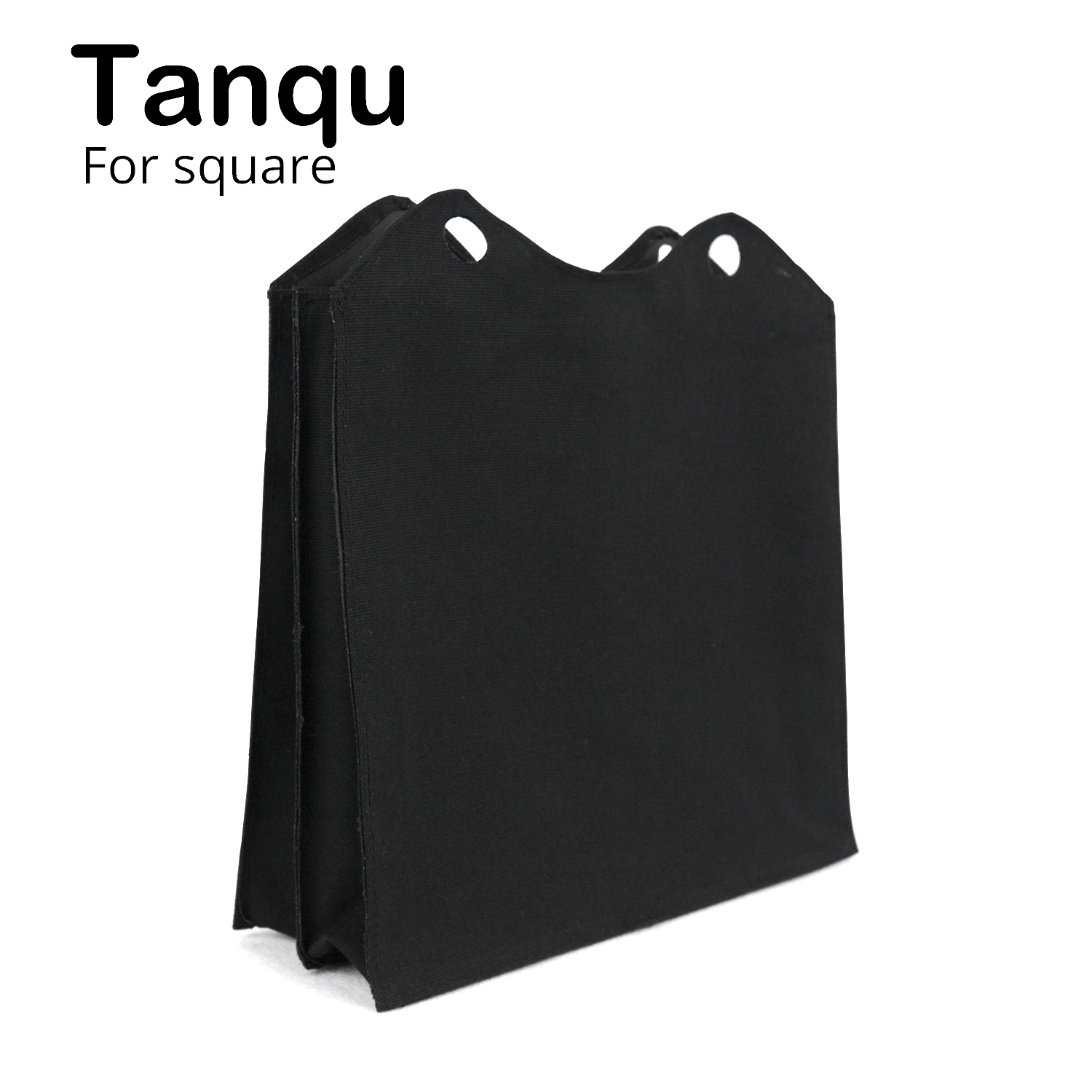 Tanqu New Canvas Fabric Tessuto Inner Insert Multitasking Compartments Pocket Zip Top Lining Sacca Interna for Obag O Square new colorful cartoon floral insert lining for o chic ochic canvas waterproof inner pocket for obag women handbag