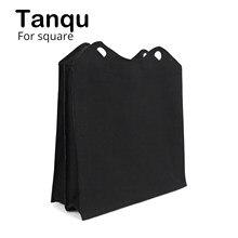 Tanqu nova tela de lona tessuto inserção interna compartimentos multitarefa bolso zip forro superior sacca interna para obag o quadrado