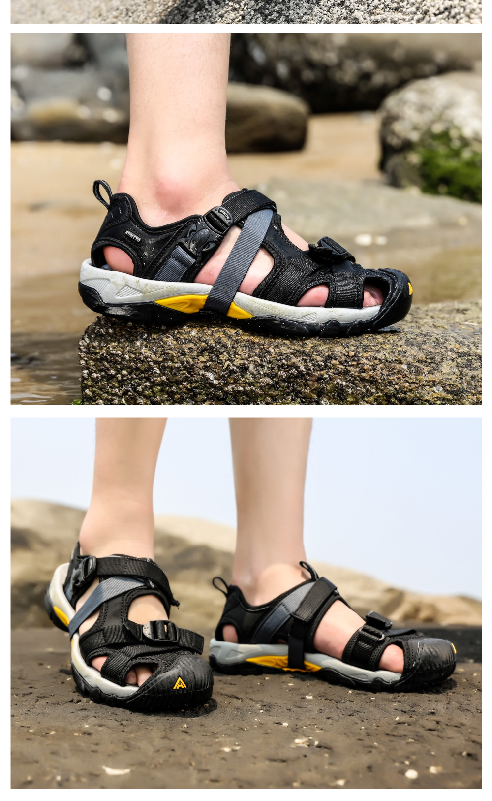 HTB1HnNQcECF3KVjSZJnq6znHFXaH - Brand Sandals Men New Mens Casual Outdoor Non-slip Wear-resistant Breathable Mesh Skynet Lightweight Mens Summer Shoes