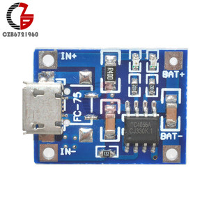10Pcs 5V 1A TP4056 Micro USB 18650 Lithium Battery Charger Board Lead Acid Li-ion Lipo Battery Charging Module LED Indicator