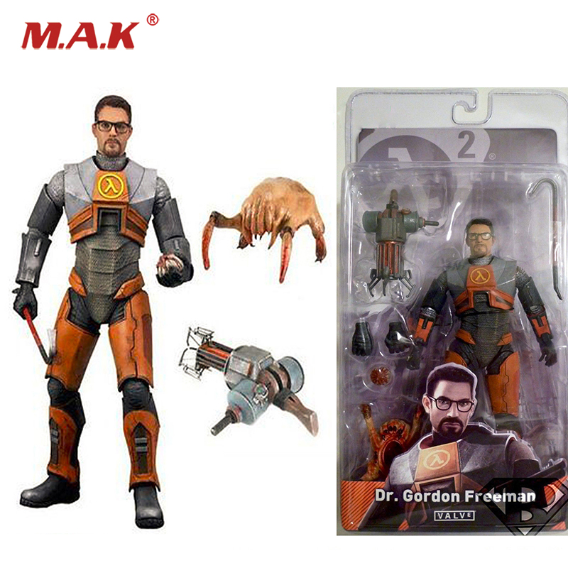 NECA Half-Life 2 Videogame 7 Dr Gordon Freeman Gravity with Gun Weapon and Monster Model Figure guinness world records the videogame wii