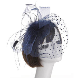b9fa636f1d57 Net Bowknot Bridal Feathers Fascinator Wedding Bride Hats