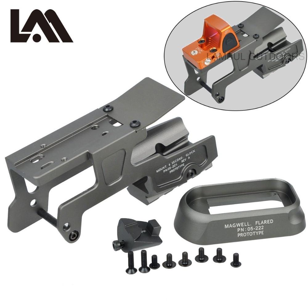 LAMBUL ALG defensa 6 segundo montaje óptica alcance RMR para pistola Gen3 Glock 17 18C 22 24 31 34 35 pistolas con Magwell