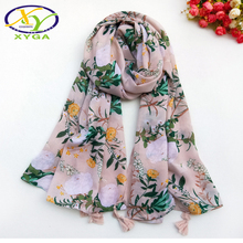 1PC Women Cotton Scarves Spring Soft Long Tassels Lady Wraps Thin Summer Polyester Female Shawls Neckchief Muslim Scarf Autumn