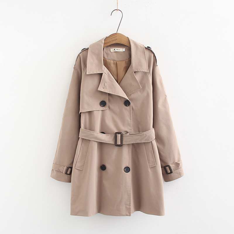 Women Double-Breasted Trenchcoat Womens Classic   Trench   Coat with a Collar Abrigo Mujer Windbreaker Large size Outwear Overcoat