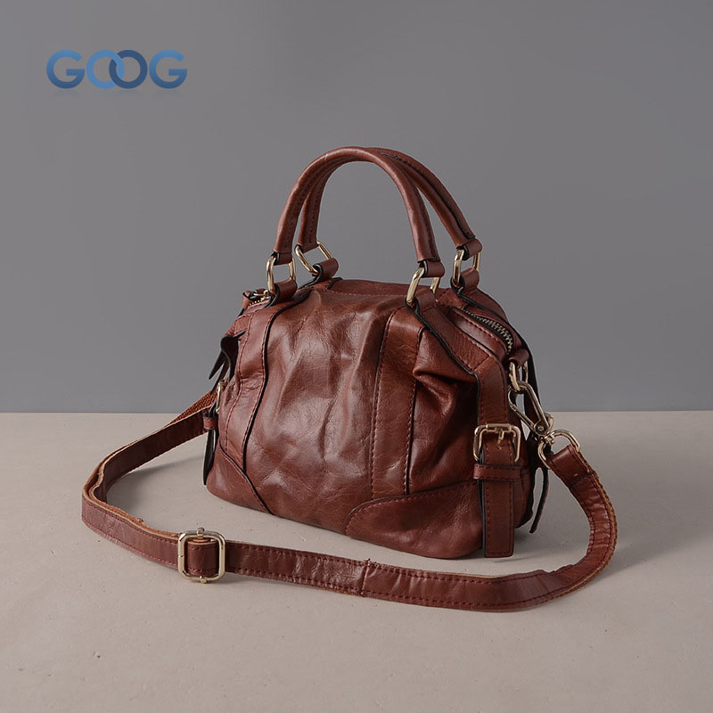 Genuine leather handbags Europe and the United States fashion new ladies shoulder handbag head layer leather zipper shell type M the united states o 1 48 ratio lionel train model yuan bao genuine 6 27852