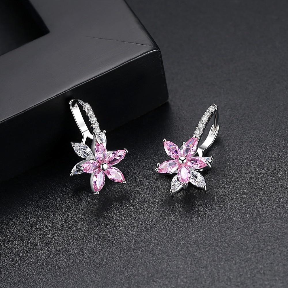 Women's Silver Plated Flower Shaped Earrings Earrings Jewelry Women Jewelry