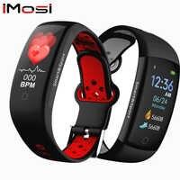 Pulsera inteligente Q6S, Monitor de ritmo cardíaco, presión arterial, pulsera inteligente, pulsera deportiva resistente al agua, colores de Fitness, correa de reloj dinámica 3D