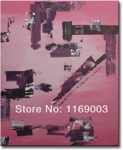 large Abstract modern pink canvas art font b knife b font paint famous oil painting only