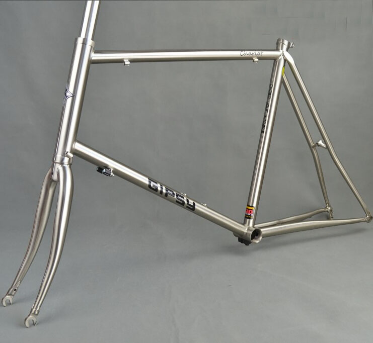 gipsy 451 renault 520 small wheel bike frame polished brushed steel bike forkchina