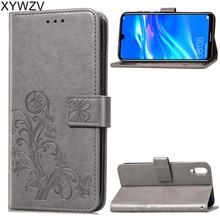 Huawei Enjoy 9 Case Luxury PU Cover Flip Wallet Phone Bag For Silicone Back Fundas