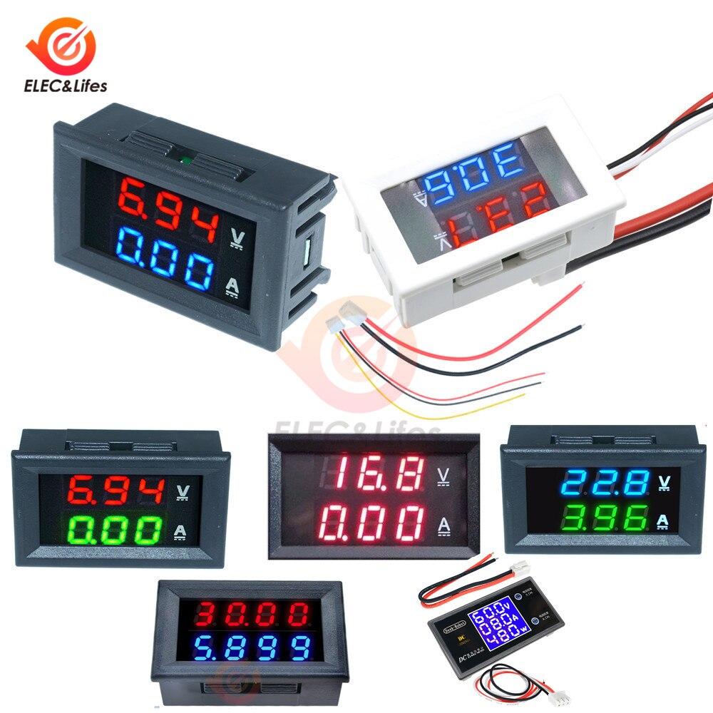 DC 200V 100V 10A LCD Digital Ammeter Voltmeter Voltage Current Meter Tester Adjustable Panel Volt AMP Detector Watt Power Meter