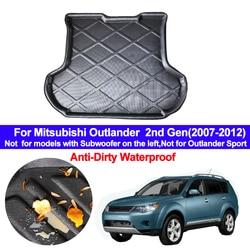Dla Mitsubishi Outlander 2nd Gen 2007 2008 2009 2010 2011 2012 z tyłu samochodu mata do bagażnika taca Boot ciężarowy wykładzina zabezpieczenie do dywanu podłogi na