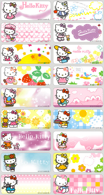Big size 72pcs Personalized name Labels Cartoon Sticker kids