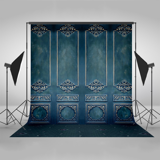 Mehofoto Photography Backdrops Blue Wall Background Photo Background Digital Print Backdrops for Photo Studio Vinyl Polyester