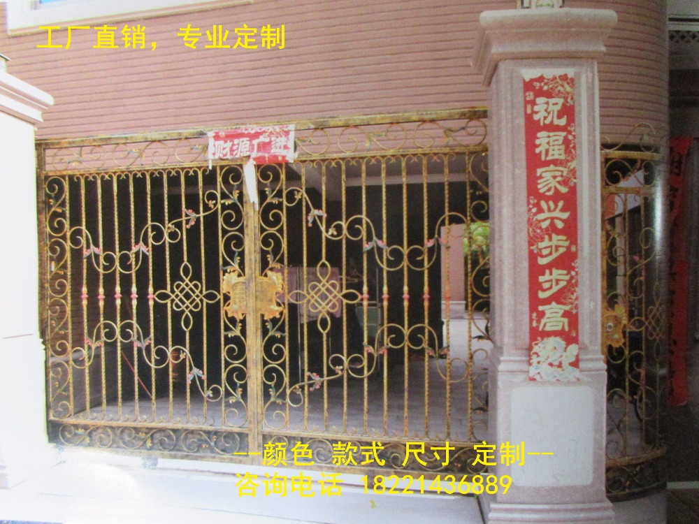 Custom Made Wrought Iron Gates Designs Whole Sale Wrought Iron Gates Metal Gates Steel Gates Hc-g95