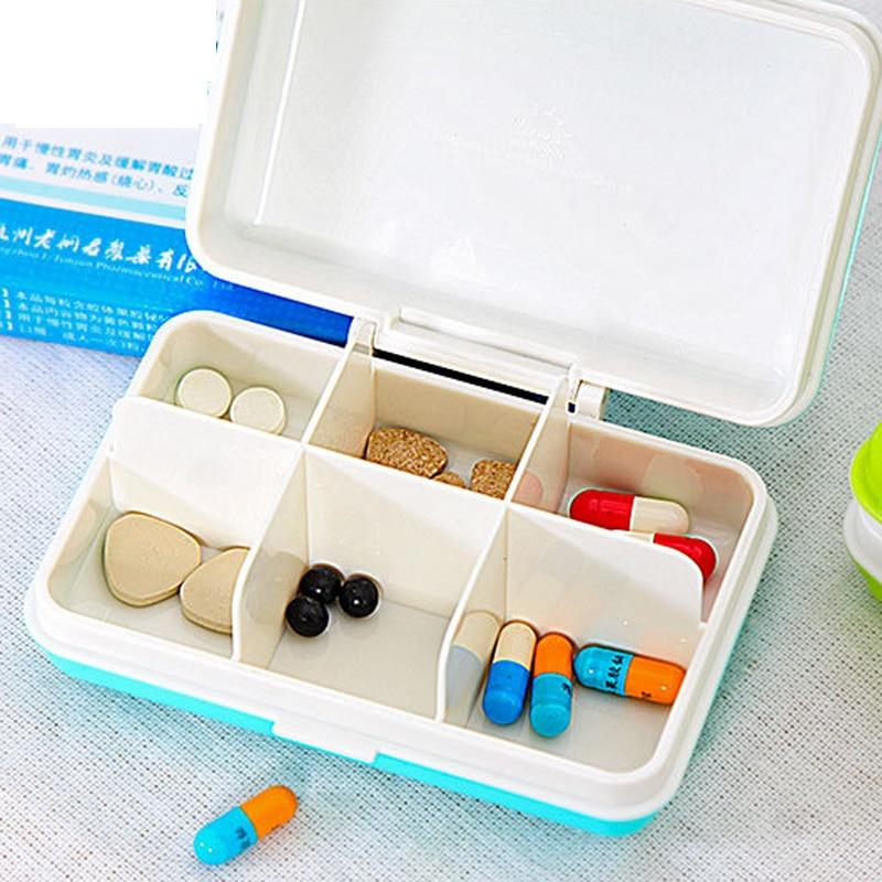 Pílula Cases e Divisores 1 pcs caixa do comprimido Size : 100*62*38mm