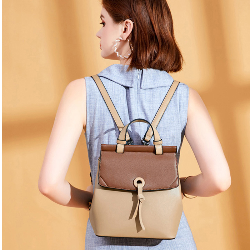 POMELOS Fashion Backpack High Quality Split Leather Women Backpack Rucksack Women Female Bagpack Woman Small Travel Backpack in Backpacks from Luggage Bags