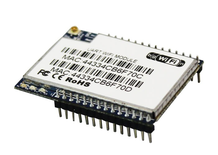 Free shipping HLK RM04 aerial serial wifi dual ethernet port serial port UART to WIFI module