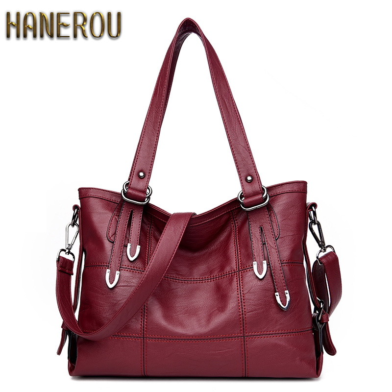 New 2018 Fashion PU Leather Women Messenger Bags Ladies Big Casual Shoulder Bags Brand Woman Handbags Bolsa Feminina Preta Sac dropshipping top quality fashion sac 2017 brand new women handbags pu leather women messenger bags casual tote female bolsa bag