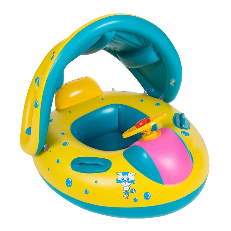 Seguro anillo de natación inflable del bebé piscina PVC bebé piscina flotador ajustable sombrilla asiento piscina juguetes 2018