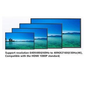 Image 5 - 4 منافذ DVI الخائن ، وصلة مزدوجة DVI D 1X4 الفاصل محول الموزع ، موصل سالب 4096x2160 5VPower ل CCTV كاميرا مراقبة