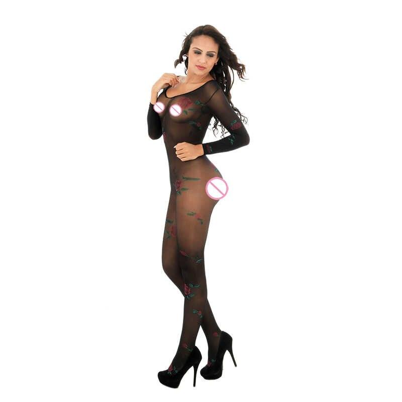 Phụ nữ Sexy Đồ Lót Sexy Quan Điểm Mở Đáy Quần Bodystockings Sexy Trang Phục Bodystocking Erotic Đồ Lót Intimates W06301X