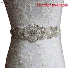 12 видов цветов Белые Свадебные ремни горный хрусталь жемчуг