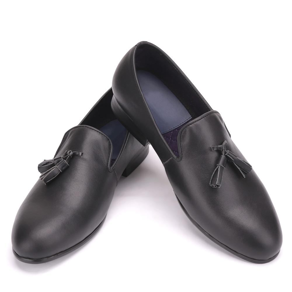 Men Black Genuine Leather shoes with leather tassel British style men dress shoes Wedding and Banquet men loafers piergitar men black genuine leather shoes with leather tassel british style men dress shoes wedding and banquet men loafers