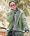 Теплая зима clothing свободные пальто куртки Хлопка мягкой Одежды Девушки Длинные Мачеха Dress Досуг Ягненка Вниз Будет Код Свободно пальто