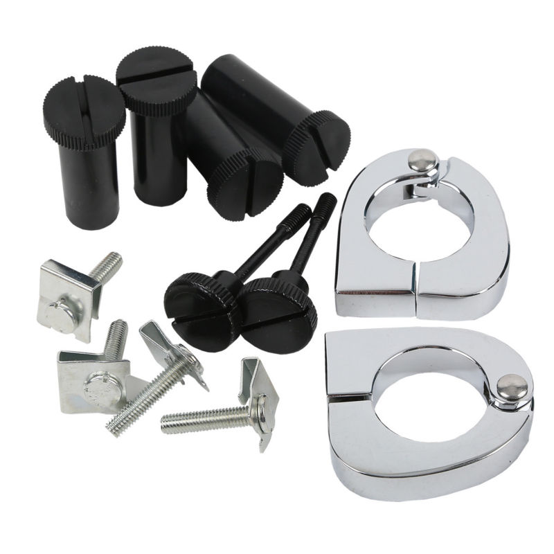 Quick Release Mounting Hardware Clamps For Harley Road King Street Glide FLT FLHT FLHRC Lower Vented Fairing 1989-2013 touring saddlebag hardware for harley touring model 1993 2013 hard bags flt flht flhtcu flhrc road king road glide etc