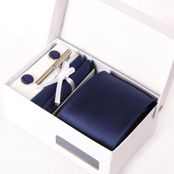 Новый человек темно-синий галстуки мужской свадебная галстук твердые gravatá деловых kravat гент свадебные запонки hanky шеи галстук набор