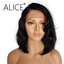 ALICE Perruques de Cheveux Humains Court ...